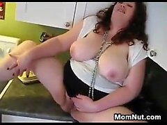 Large Woman Creampied In The Kitchen