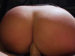 Her ass makes a fat cock disappear