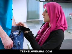 TeensLoveAnal - Religious Teen Anal Fucked in Hijab