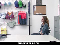 ShopLyfter Defiant Teen Blows A Big Dick Security