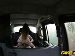 Blonde European fucked hardcore by the taxi driver