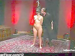 Hang up by her hair babe gets flogged