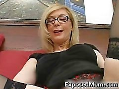 Blond housewife in glasses licking rigid part6