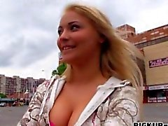 Busty Eurobabe Lana pounded for money in close up