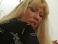 Blond mature woman boned