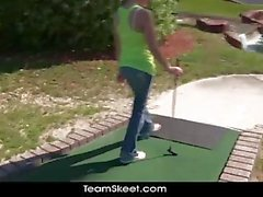 POVLife Sexy Ass golf babe shaved pussy rammed