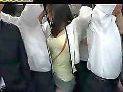 grope wife on bus