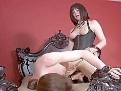 Mistress fucks her bitch slave