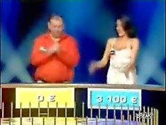 Sexy game show contestant French Telesion