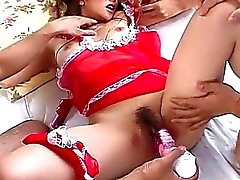 Bound Japanese gal stuffed with sex toys