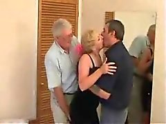Mature Swinger trio in a hotel