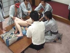 Asian Cute Maid Nailed For A Group Japanese