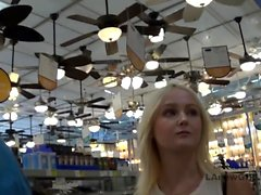 Glamorous girl fucks at modeling audition after shoping