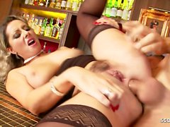 milf daria glower seduce to deep anal sex in public bar