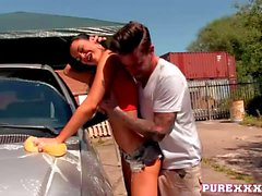 Jasmine Jae in the car wash