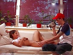 young russian couple filming their sex session