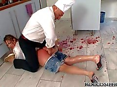 Lolli Moon gets abused in the kitchen