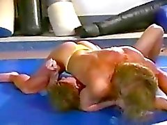 Topless Mixed Wrestling With Female Bodyb...