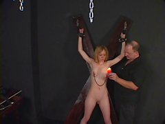 Small tits chick ends up with hot wax on her tits at the hands of her master