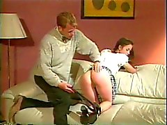 Slut gets spanked with a paddle