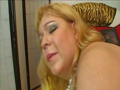 Angelyne (Chubby Older Blond BBW) & a guy