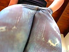 Big booty Jada Stevens in tight jeans