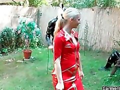 Sexy Carmen in hard-core bdsm action part4