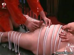 Kinky Carmen and her redhead friend get part1