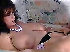Brunette With Big Tits Enjoys His Cock