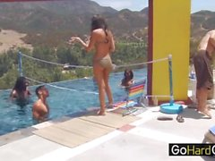 Outdoor Pool party Chayse Evans Candice Nicole part2