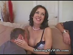 Hungry Wife Feeds On New Cock