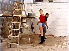 Blonde fucking worker
