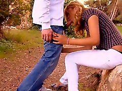 Country Blonde Sucking Dick And Banged In Public