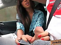 Teen Gina Devine fucked in the backseat