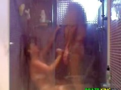 Couple Have Fun In The Shower