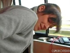 German Teen Fucked In A Bus
