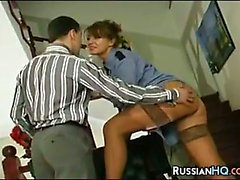 Russian Woman Gets Pounded