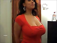 Danica Collins in a red top