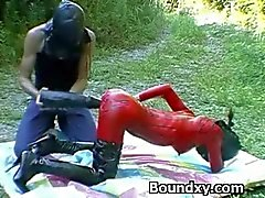 Woman In Latex Fetish Inhuman Domination