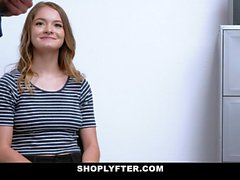 ShopLyfter - Natural Teen Blows Security Guard
