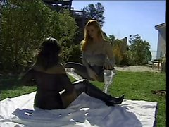 Horny white on black lesbian domination (bodystocking)