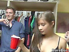 Incredibly classy and sexy party at a college dorm