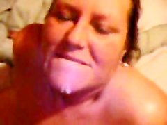 POV blowjob with mature BBW begging for cum to swallow