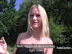 Blonde italian fucked outdoors