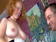 Busty german redhead wife fucked and facialized