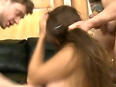 Brunette Street Slut Getting Face Fucked Very Roughly