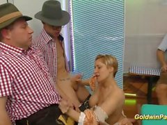 deepthroat and dp gangbang orgy