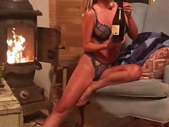Sara Jean Underwood - getting naked in a cabin