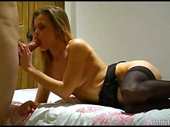 Sexy Blonde Escort blowjob and swallow