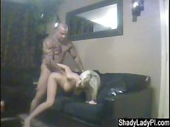 Blonde Cheating Slut Fucks Badass Dude